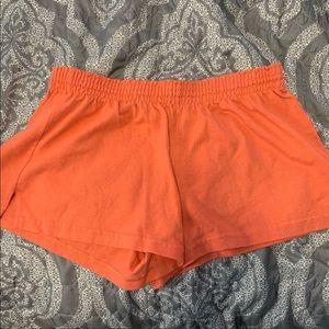 Orange soffe shorts